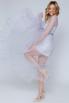 Комбинированное лиловое платье в прокат и аренду в Киеве. Фото 2