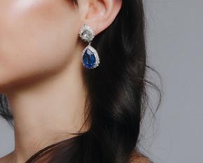 Срібні сережки з синім каменем в прокат и oренду в Киiвi. Фото 1