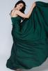 Темно-зеленое платье в пол на тонких бретельках в прокат и аренду в Киеве, Одессе, Харькове. Фото 3