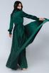 Зеленое платье в пол с длинным рукавом в прокат и аренду в Киеве. Фото 2
