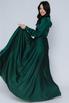 Зеленое платье в пол с длинным рукавом в прокат и аренду в Киеве. Фото 4