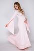Розовое платье в пол с удлиненными рукавами в прокат и аренду в Киеве. Фото 3