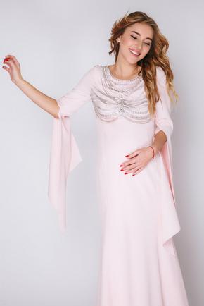 Рожеве плаття в підлогу з подовженими рукавами в прокат и oренду в Киiвi. Фото 2