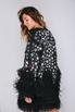 Черное платье мини с перьями и звездами в прокат и аренду в Киеве, Одессе, Харькове. Фото 3