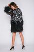 Черное платье мини с перьями и звездами в прокат и аренду в Киеве, Одессе, Харькове. Фото 4