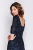 Темно-синее платье в пол в пайетках в прокат и аренду в Киеве, Одессе, Харькове. Фото 4