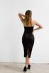Силуэтное платье футляр на бретелях из атласа черного цвета в прокат и аренду в Киеве. Фото 5