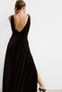 Черное бархатное платье в пол с глубоким вырезом на спине и декольте в прокат и аренду в Киеве. Фото 6