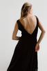 Черное бархатное платье в пол с глубоким вырезом на спине и декольте в прокат и аренду в Киеве. Фото 9