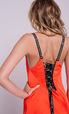 Оранжевое платье с длинным шлейфом и шнуровкой на спине в прокат и аренду в Киеве, Одессе, Харькове. Фото 2