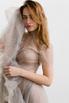 Комбинированное платье из сетки серого цвета с телесным корсетом в прокат и аренду в Киеве. Фото 1