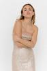 Блестящее платье бюстье мини бежевого цвета в прокат и аренду в Киеве. Фото 3