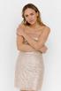 Блестящее платье бюстье мини бежевого цвета в прокат и аренду в Киеве. Фото 4