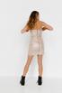 Блестящее платье бюстье мини бежевого цвета в прокат и аренду в Киеве. Фото 6