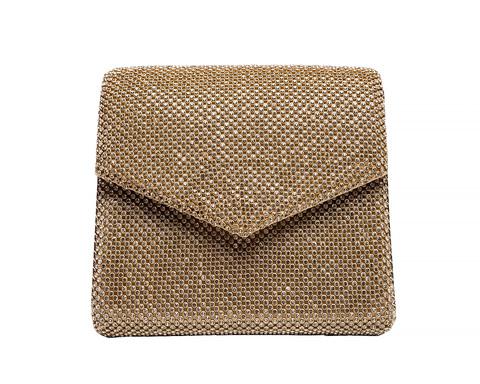 Золотой клатч-конверт