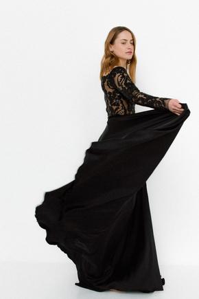 Чорна сукня в підлогу з довгим рукавом в прокат и oренду в Киiвi. Фото 2