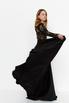 Черное платье в пол с длинным рукавом в прокат и аренду в Киеве. Фото 2