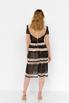Бежевое платье миди прозрачное с черной вышивкой в прокат и аренду в Киеве. Фото 5