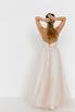 Бежевое платье из фатина с апликацией из цветов в прокат и аренду в Киеве. Фото 5