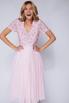 Розовое платье миди из фатина с пайетками в прокат и аренду в Киеве. Фото 2
