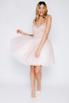 Розовое пышное платье мини расшитое бусинами в прокат и аренду в Киеве. Фото 2