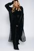 Платье-рубашка с черными брюками из структурированной ткани в прокат и аренду в Киеве. Фото 3