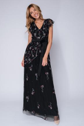 Черное платье пол со звездами из пайеток в прокат и oренду в Киiвi. Фото 1
