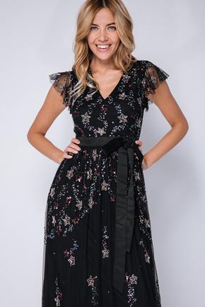 Черное платье пол со звездами из пайеток в прокат и oренду в Киiвi. Фото 2
