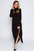 Шелковое платье шоколадного цвета с объемными плечами в прокат и аренду в Киеве. Фото 2