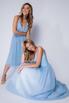 Голубое платье миди  на бретелях в прокат и аренду в Киеве. Фото 6
