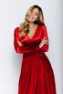 Темно- красное бархатное платье в пол в прокат и аренду в Киеве. Фото 4