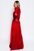 Темно- красное бархатное платье в пол в прокат и аренду в Киеве. Фото 3