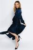 Темно-синее шелковое платье в пол с зернистым эффектом в прокат и аренду в Киеве. Фото 5