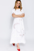 Белое платье с вышивкой и поясом в прокат и аренду в Киеве. Фото 2