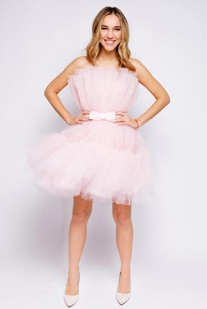 Ніжно-рожева пишна сукня довжини міні в прокат и oренду в Киiвi. Фото 1