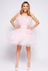Нежно-розовое пышное платье длины мини в прокат и аренду в Киеве. Фото 1