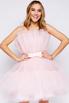 Нежно-розовое пышное платье длины мини в прокат и аренду в Киеве. Фото 2