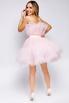 Нежно-розовое пышное платье длины мини в прокат и аренду в Киеве. Фото 4