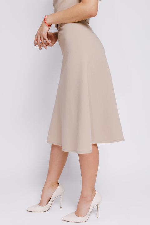 Песочная юбка длины миди