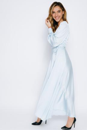 Блакитне плаття в підлогу з довгим рукавом в прокат и oренду в Киiвi. Фото 2