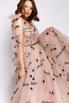 Пышное корсетное платье в пол с надписями в прокат и аренду в Киеве. Фото 2