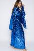 Платье-кимоно в пол из пайеток цвета электрик в прокат и аренду в Киеве. Фото 3