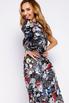 Шелковое принтованное ассиметричное платье с рукавом буф в прокат и аренду в Киеве. Фото 7