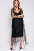 Платье на запах из чёрной сетки расшитой бисером c в прокат и аренду в Киеве. Фото 1