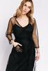 Платье на запах из чёрной сетки расшитой бисером c в прокат и аренду в Киеве. Фото 5