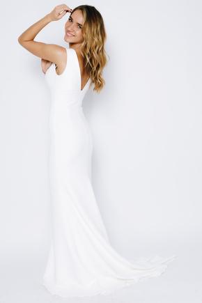Силуетне плаття в підлогу з глибоким вирізом в прокат и oренду в Киiвi. Фото 2
