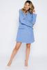 Платье-пиджак мини голубого цвета в прокат и аренду в Киеве. Фото 1
