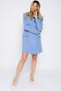 Платье-пиджак мини голубого цвета в прокат и аренду в Киеве. Фото 2