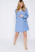 Платье-пиджак мини голубого цвета в прокат и аренду в Киеве. Фото 3