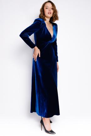 Оксамитове плаття кольору електрик з відкритою спиною в прокат и oренду в Киiвi. Фото 1